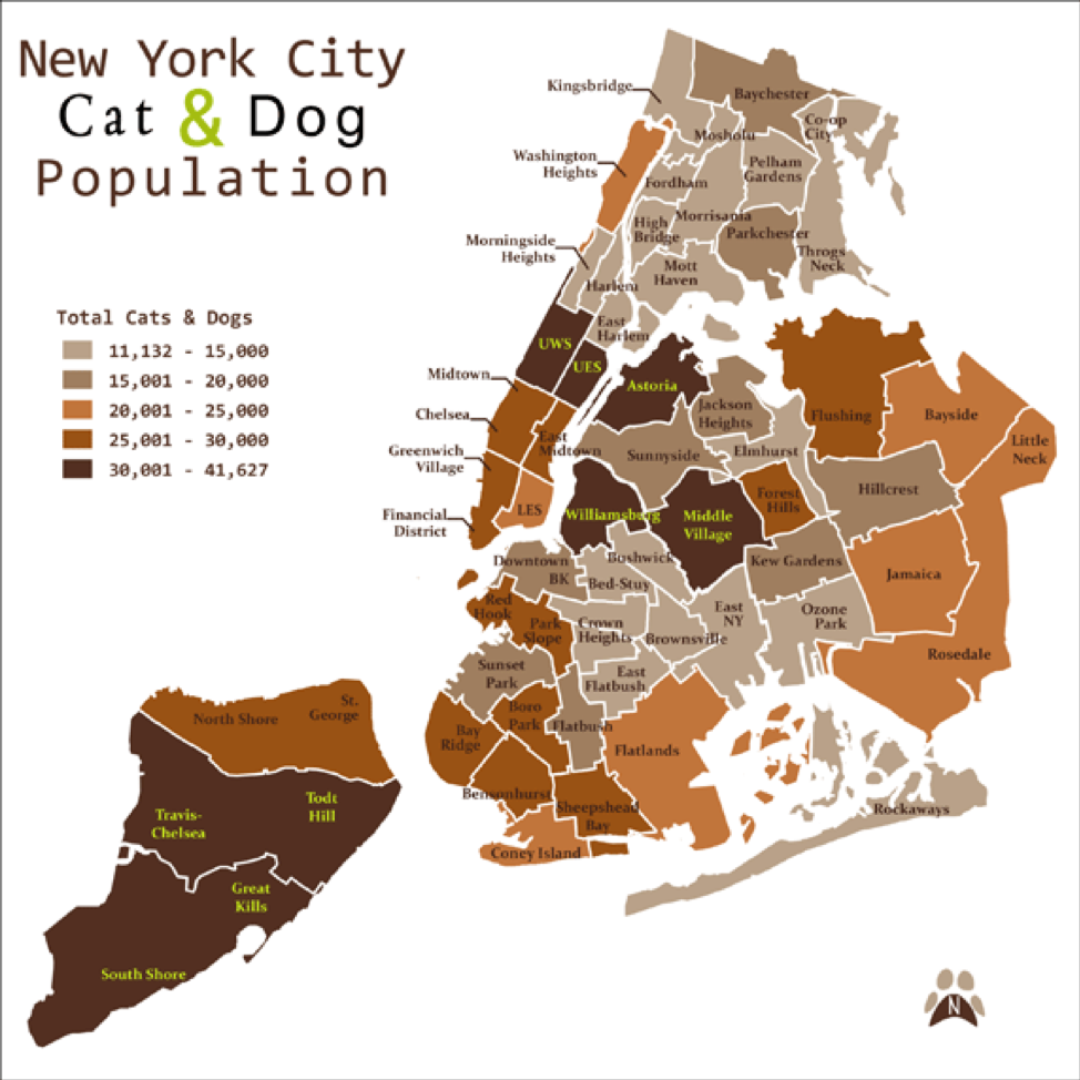 New York Dog & Cat Population